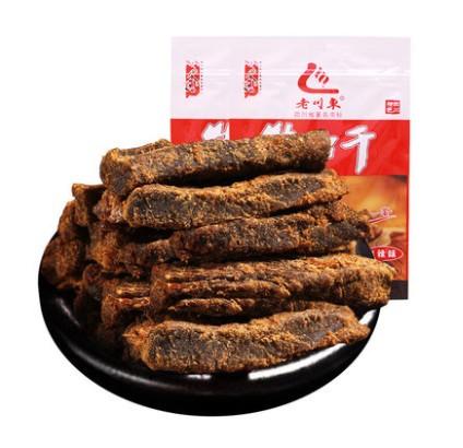 老川东 牛肉干香辣味 45g*2袋