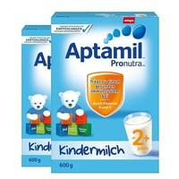 中亚Prime会员:Aptamil 爱他美 Pronutra 婴幼儿奶粉 2+段 600g *2件