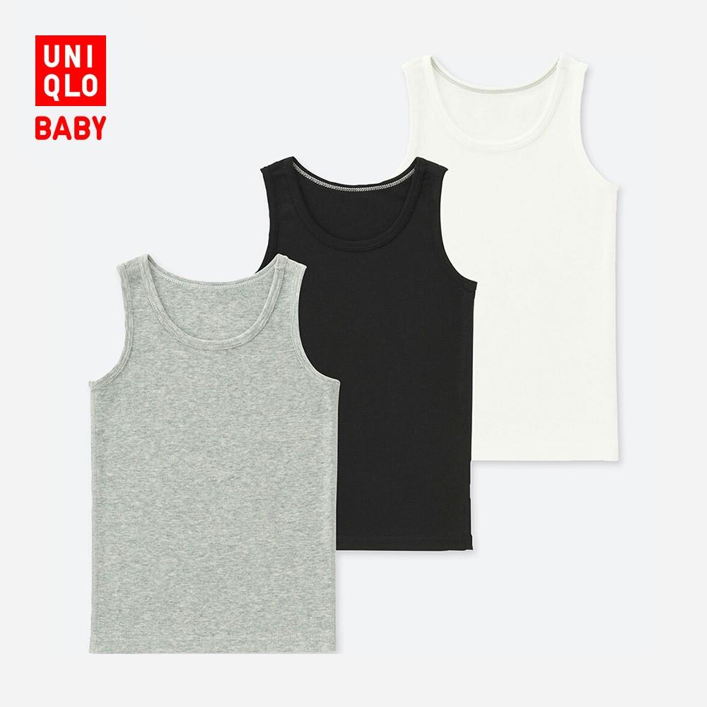 优衣库 UNIQLO 404307 儿童全棉罗纹背心 3件装
