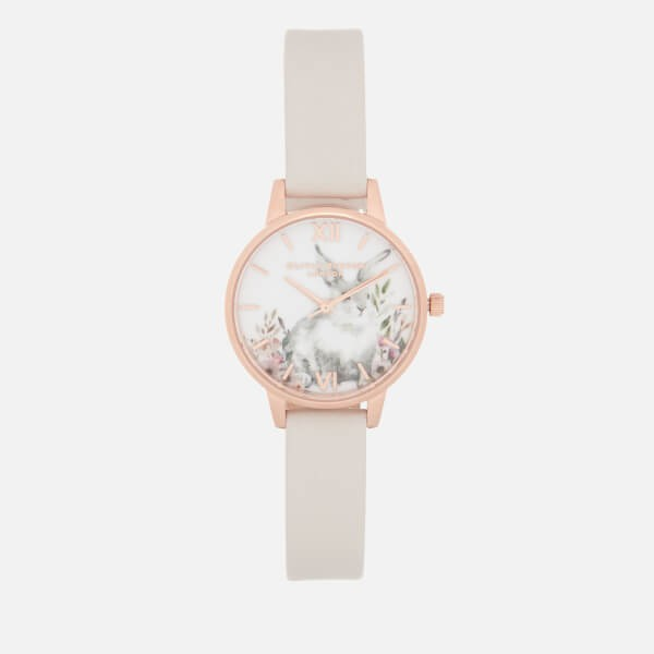 OLIVIA BURTON ILLUSTRATED ANIMALS 兔子图案时装腕表