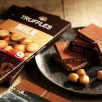 TRUFFLES 德菲丝 四口味可选 巧克力排块 100g *3件