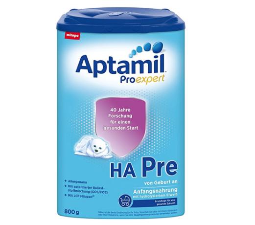 Aptamil 爱他美 ProExpert HA 免敏奶粉 pre段 800g *4