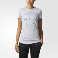 凑单品:adidas 阿迪达斯 Three Stripe Life 女士短袖T恤 *2件