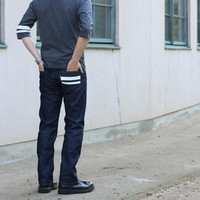 MOMOTARO JEANS 男士修身直筒牛仔裤