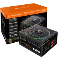 Thermaltake 曜越 ToughpowerRGB 650W 电源(80PLUS金牌、全模组、RGB风扇、十年质保)