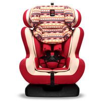 感恩 兒童安全座椅0-4-12歲 波西米亞紅 可雙向安裝