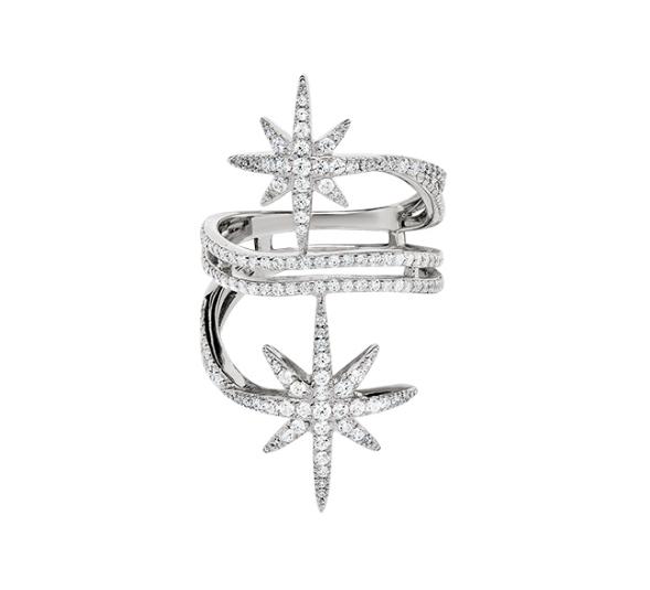 APM MONACO METEORITES系列 镶晶钻戒指