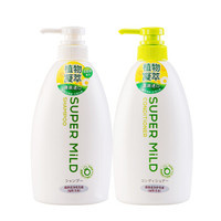 SUPER MILD 惠潤 柔凈 綠野芳香 洗護套裝(洗發水 600ml+護發素 600ml)