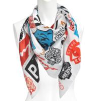 KENZO KEN009035 虎头主题 丝绸丝巾
