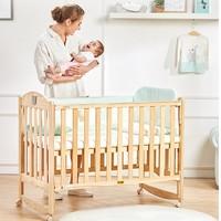历史低价:gb 好孩子 MC115 实木多功能婴儿床