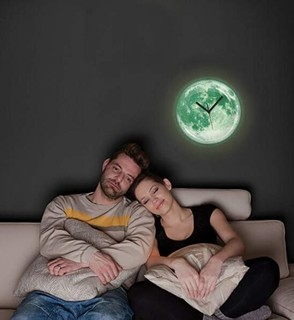 Kikkerland 创意夜光月亮挂钟