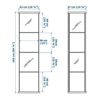 IKEA 宜家 DETOLF 德托尔玻璃门柜