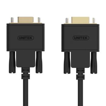 UNITEK 优越者 rs232串口线 公对公延长线 DB9针串口转接线