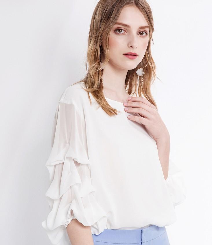 OSA 欧莎 S118B17052 女士雪纺衬衫