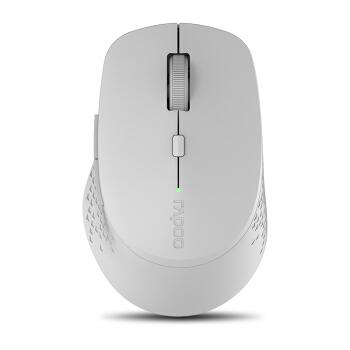 RAPOO 雷柏 M300 鼠标 (浅灰色、无线、蓝牙)