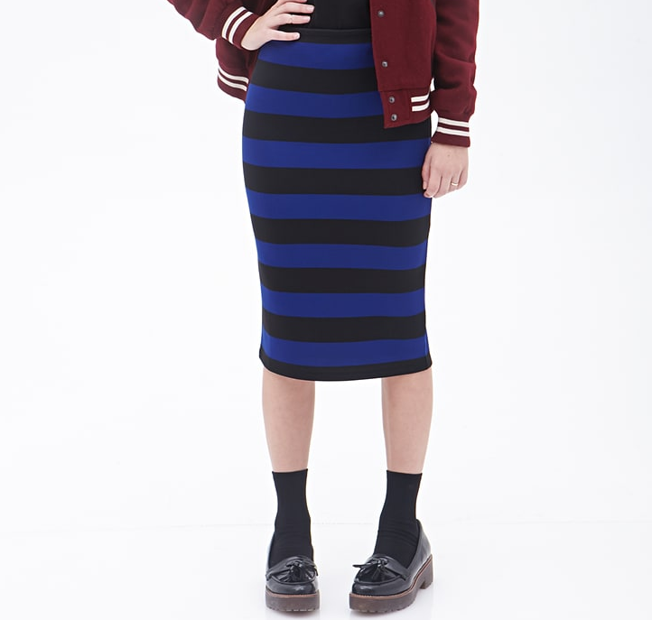 FOREVER 21 女士条纹半身裙