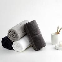 京東PLUS會員 : LENCIER蘭敘 可裁剪全棉素色毛巾3條裝 105g/條 75*34cm *4件