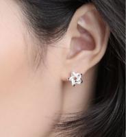 11日0點 : Silverage 銀時代 星織夢系列 925純銀五角星耳釘