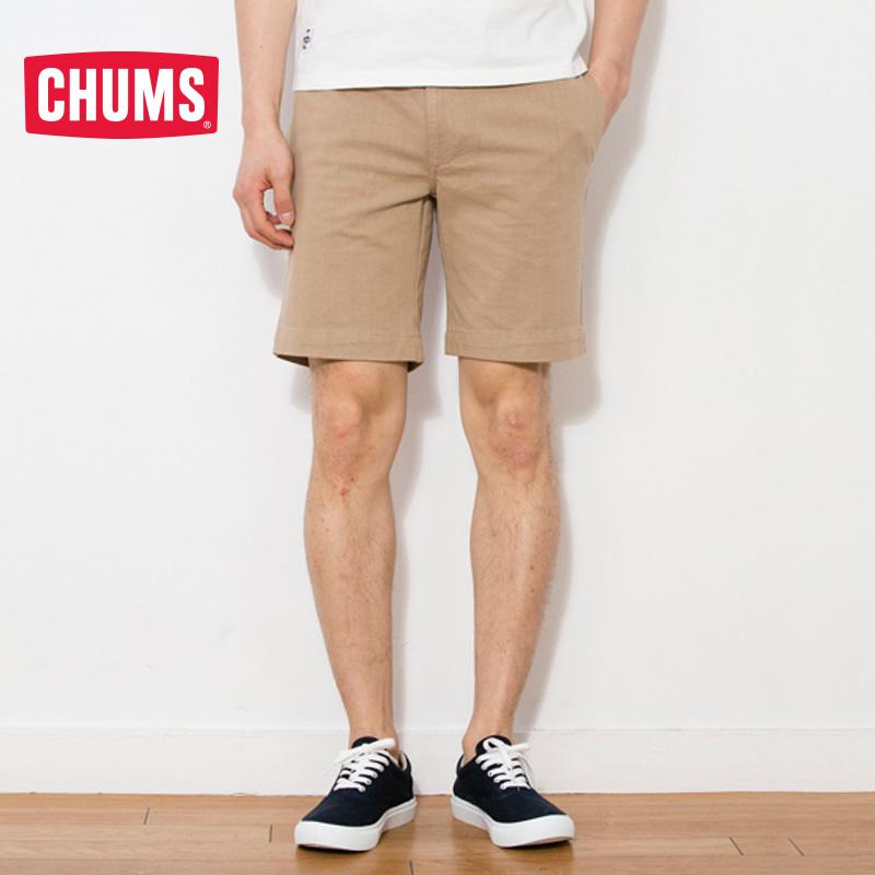 CHUMS CH03-1057 男士棉质穿绳功能短裤