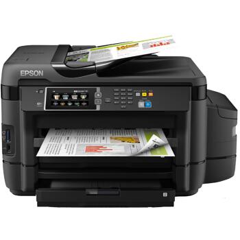 EPSON 爱普生 L1455 A3+彩色喷墨一体机 (打印 扫描 复印 传真、A3、有线,无线,有线&无线,USB,云打印,移动APP打印、支持双面打印、墨水、家庭办公,小型商用,大型办公、墨仓/加墨式打印)