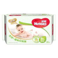 HUGGIES 好奇 鉑金裝 嬰兒濕巾 80抽 *17件