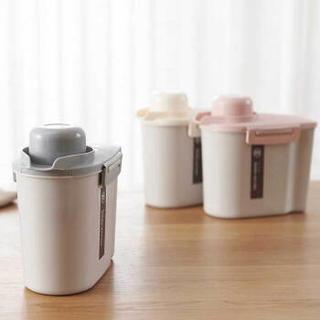 Quail 日系简约塑料杂粮罐  3个装