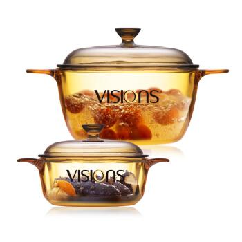 VISIONS 康宁 晶彩透明锅 2件套  0.8L+1.5L VS-0815/JD+凑单品