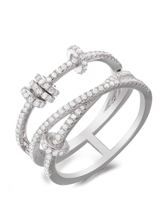 apm MONACO MALTESE系列 镶晶钻925银戒指