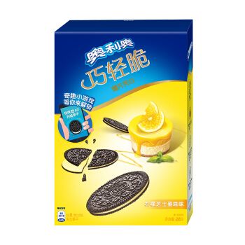 OREO 奥利奥 巧轻脆薄片夹心饼干 柠檬芝士蛋糕口味 285g