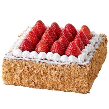 LE CAKE 诺心 草莓拿破仑蛋糕 2磅 礼盒装