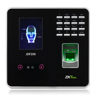 ZKTeco 中控智慧 熵基科技 JDF200指纹人脸考勤机  高速无接触人脸打卡机