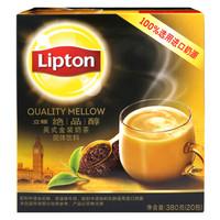 立頓(Lipton) 奶茶 絕品醇英式金裝奶茶固體飲料 380g *5件