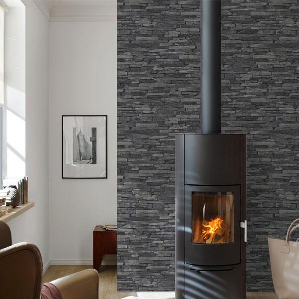 艾仕 3D立体砖石图案 无纺布壁纸 (10.05 x 0.53m)