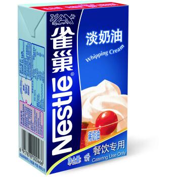雀巢 Nestle 烘焙原料 稀奶油 动物奶油 淡奶油1L(新老包装随机发货)
