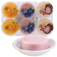 淘吉 布丁果肉果冻 休闲食品儿童零食 办公室零食 混合口味480g 6杯装