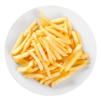 浦之灵 牛排薯条 粗薯条冷冻 400g 方便菜 油炸小食 生鲜蔬菜