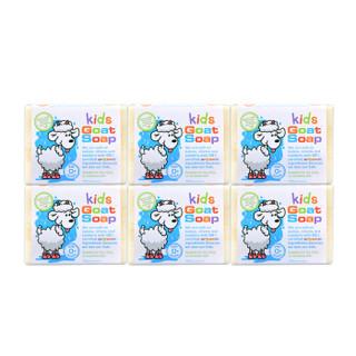 Goat Soap 澳洲进口手工山羊奶皂 新生婴幼儿童0岁 沐浴洗澡洗脸洁面香皂肥皂 宝宝款组合装100g*6