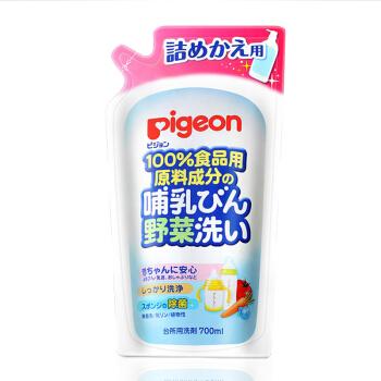 贝亲(Pigeon)奶瓶清洗剂 果蔬餐具清洁700ml(补充装)  原装进口