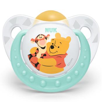 NUK安抚奶嘴宝宝防胀气安慰奶嘴乳胶迪士尼安睡型(6个月以上)图案颜色随机【德国进口】