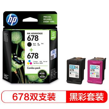 惠普(HP)L0S24AA 678黑色+678彩色套装 (适用HP Deskjet1018,2515,1518,4648,3515,2548,2648,3548,4518)