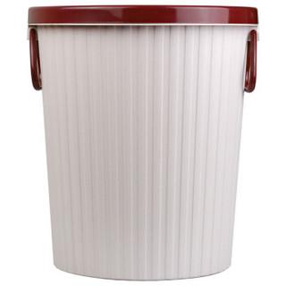 探戈(TANGO)垃圾桶10L带压圈垃圾篓/清洁桶办公厨房卫生间客厅 中号 浅粉色