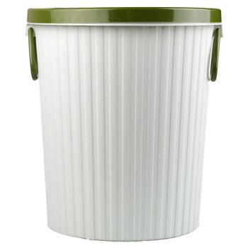 探戈(TANGO)垃圾桶10L带压圈垃圾篓/清洁桶办公厨房卫生间客厅 中号 浅绿色