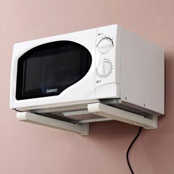 美达斯 微波炉烤箱置物架 支架托架 厨房壁挂式架子 可伸缩 10652