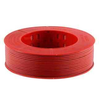 德力西(DELIXI)电线电缆 BV4平方 单芯单股铜线 家装家用铜芯电线 100米 红色火线