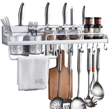 卡贝(Cobbe)厨房置物架壁挂厨具收纳架厨房挂件刀架太空铝调料架厨房用品