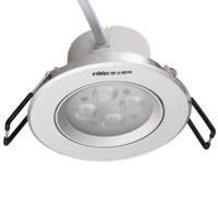 雷士照明(NVC)LED射燈 可調角度天花射燈 E-NLED164D 砂銀黃光(3W)
