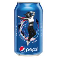 pepsi 百事 可乐原味碳酸汽水330ml×24罐经典罐饮料饮品整箱装 宅家囤货
