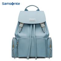 新秀丽双肩背包电脑包女包韩版书包 Samsonite学生潮流休闲旅行包 TQ4 浅蓝色