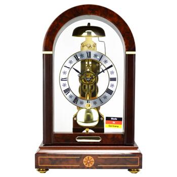赫姆勒(Hermle)座钟 黑杉木设计师金色钟塔动力储存机械座钟22712-030791