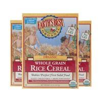 2日10點: Earth's Best 愛思貝 嬰兒有機糙米高鐵營養米粉 1段 227g 3盒裝